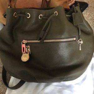 Michael Kors Knox Drawstring Loden padlock Bag